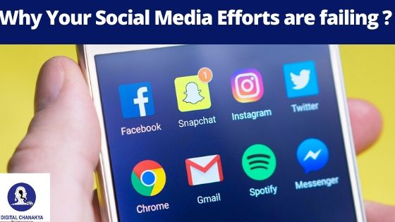 Reasons why your social media marketing efforts are not giving results